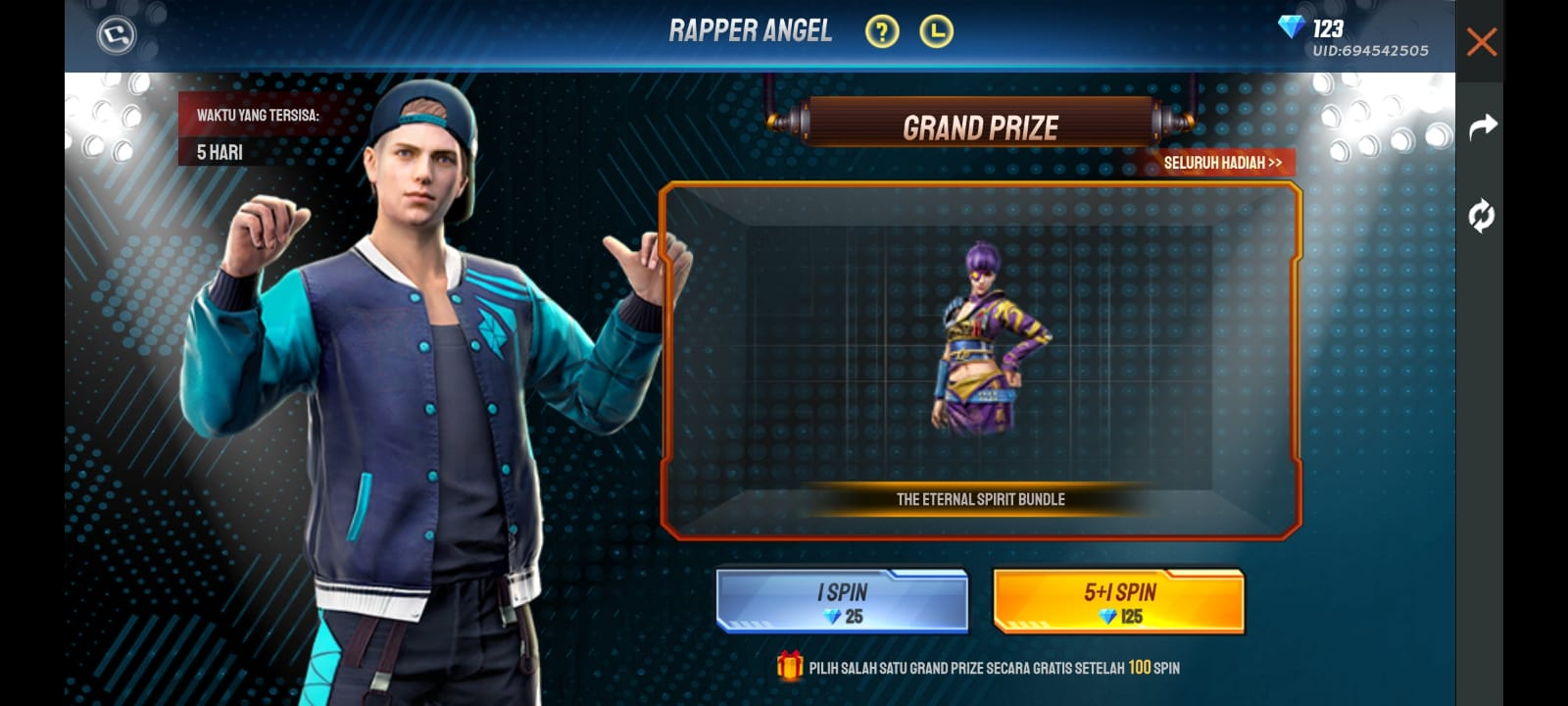 Rapper Angel Bundle FF