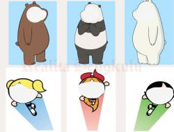 Twibbon Best Friend, Ada Ice Bear, Panda, Grizz dan Powerpuff Girls