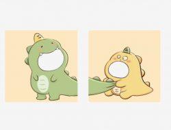 Twibbon Dino Kuning dan Hijau Yang Viral di Tiktok, Ini Link Downloadnya