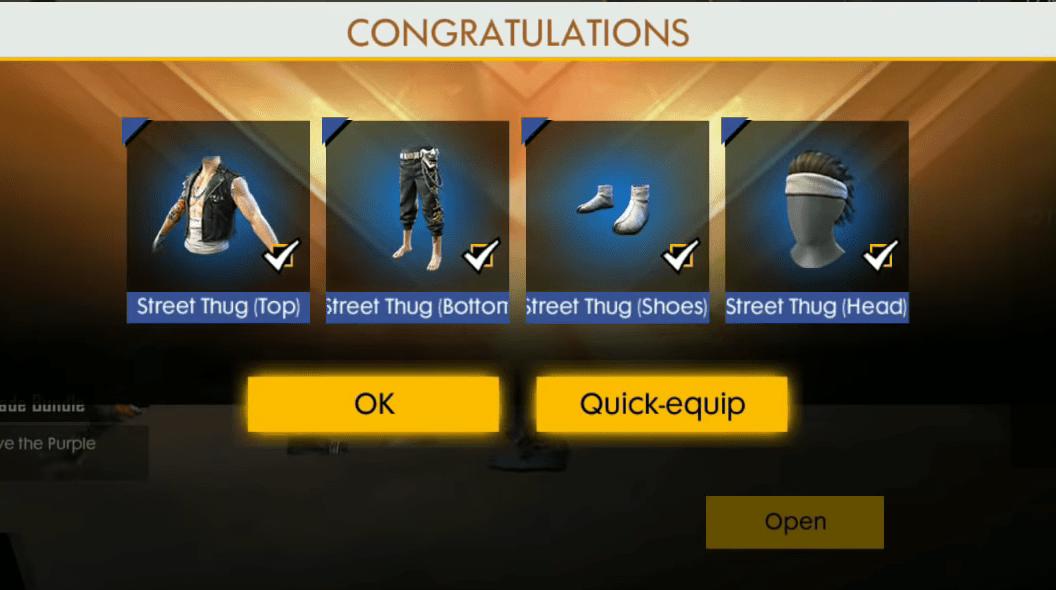 street thug bundle free fire