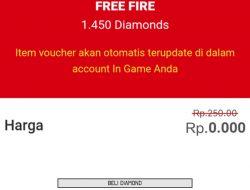 Ffidduniagame Com, Top Up 1450 Diamond Free Fire Gratis? Benarkah?