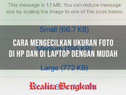 Cara Mengecilkan Ukuran Foto di HP dan di Laptop Menjadi 50 kb, 100 kb